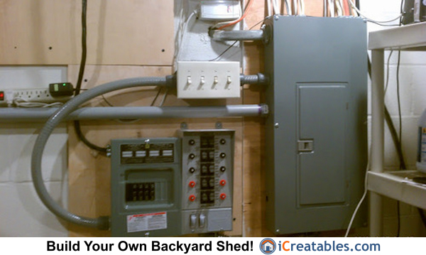 Generator Shed Electrical Transfer Switch Setup