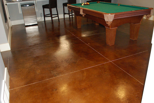 Shed And Basement Flooring Types Stained Concrete Epoxy Tile Vinyl Amp