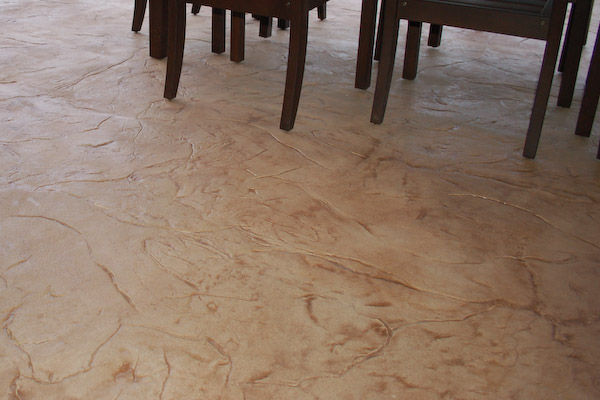 Stamped Cement Floors : Shed and basement flooring types stained concrete epoxy