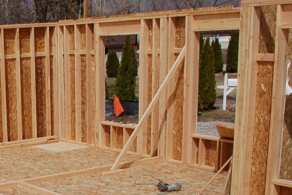 Framing a exterior wall frame interior wall for Exterior stud wall construction