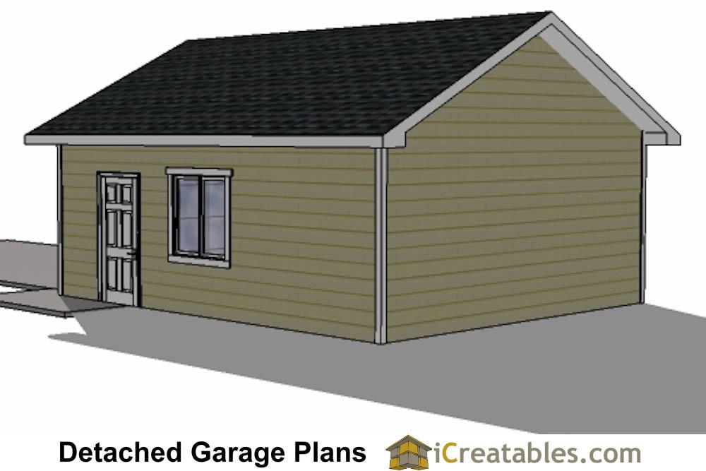 20x24 1 car detached garage plans download and build for 14 foot tall garage door