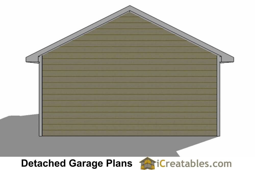 Front Elevation Car Garage Door : Garage plans detached