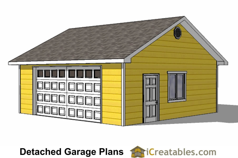 Diy 2 car garage plans 24x26 24x24 garage plans for 1 1 2 car garage plans