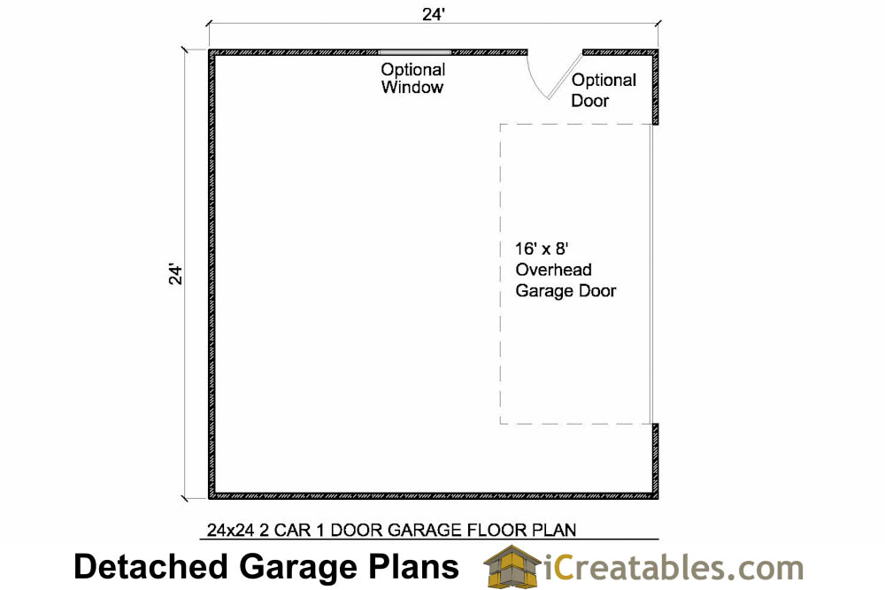 24x24 garage plans 2 car garage plans for 2 door garage plans
