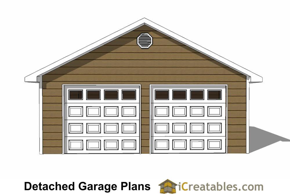 Front Elevation Car Garage Door : Garage plans car doors