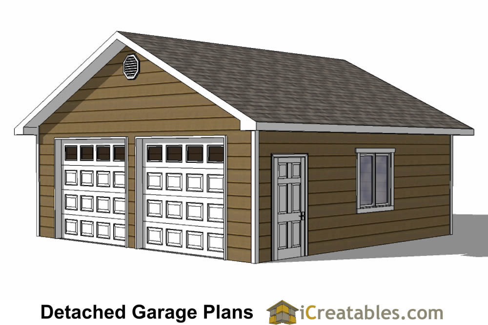 Diy 2 car garage plans 24x26 24x24 garage plans for Two car garage with workshop plans