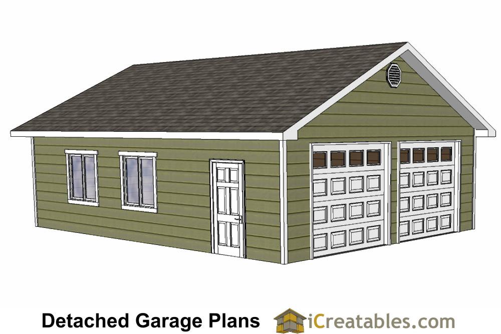 Diy 2 Car Garage Plans 24x26 Amp 24x24 Garage Plans