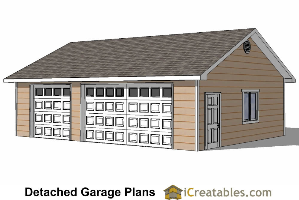 24x34 garage plans 3 car garage plans 2 doors for 12x18 garage plans