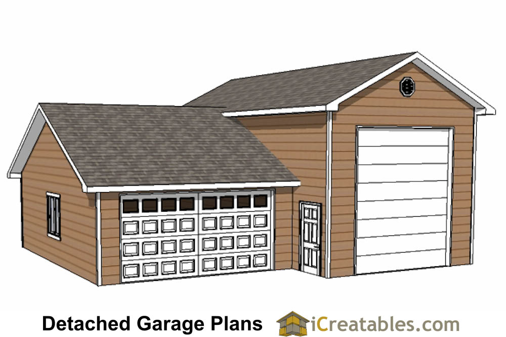 Custom garage plans storage shed detached garage plans for Garage blueprints