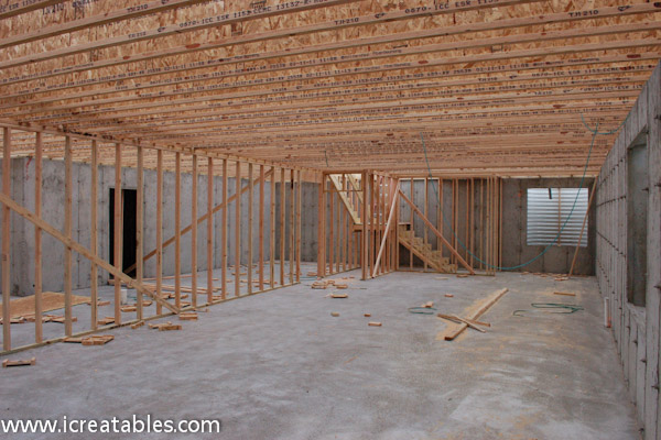 frame basement load bearing walls step 9 how to build a home
