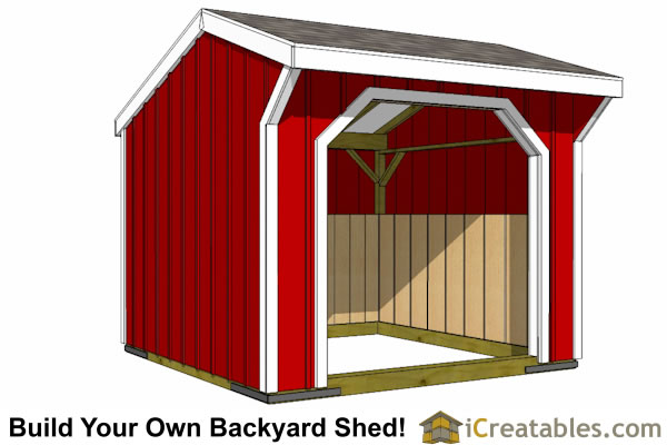10x10 shed plans storage sheds small horse barn designs for Horse barn designs free