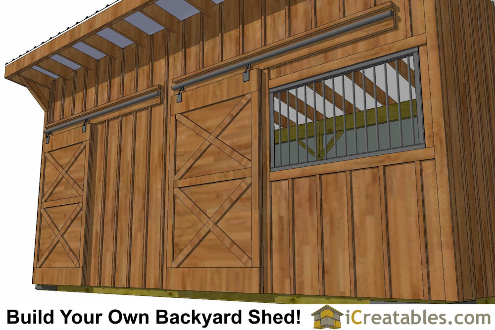 10x20 Horse Barn Plans With Wood Foundation