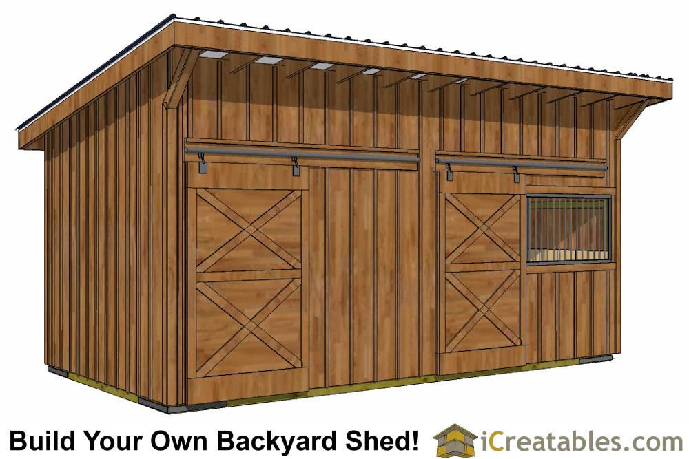 4 stall horse barn floor plans for Horse stall building plans