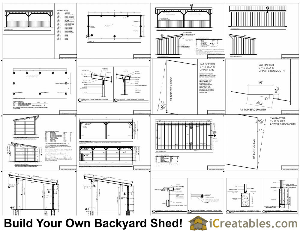 12x30 run in shed plans for Shed floor plans