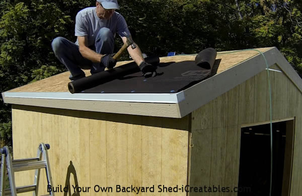 How to roof a shed roofing a shed for How to shingle a shed