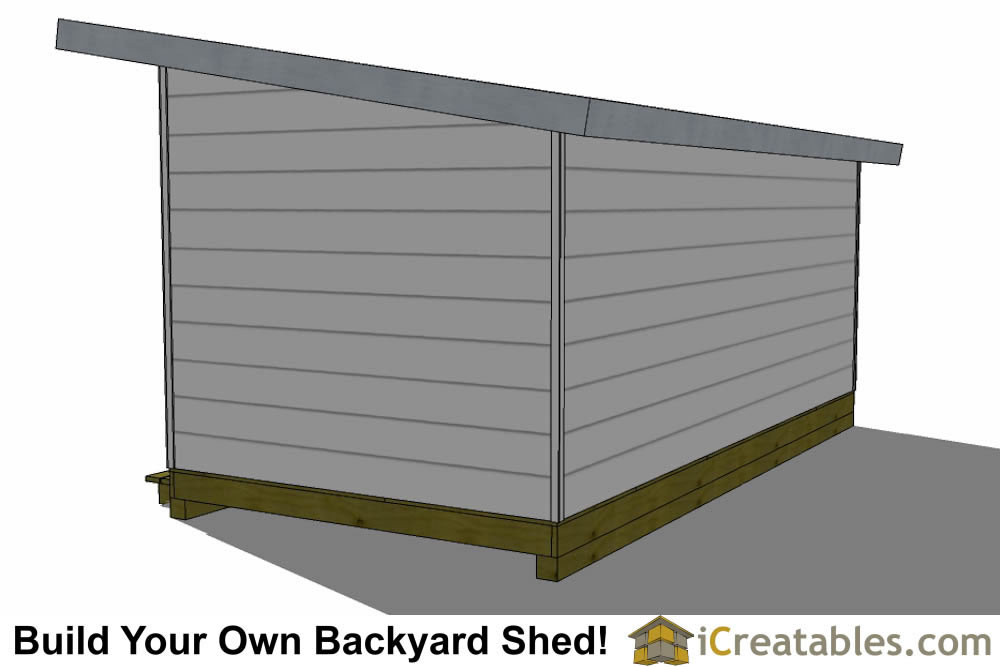 10x20 modern studio shed plans door right for Modern shed siding
