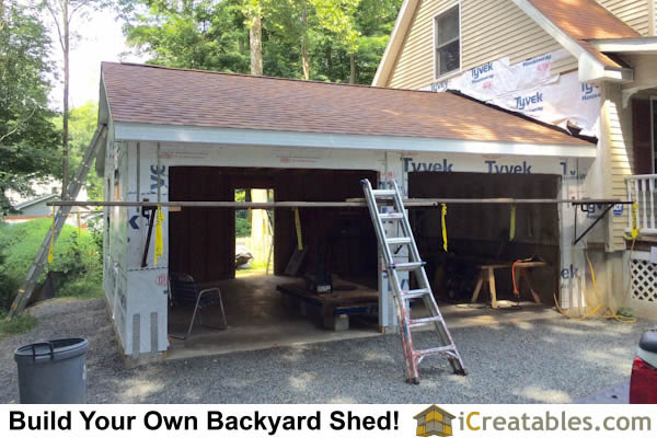 Two Car Garage Installed Barns Carports More: Pictures Of Detached Garages