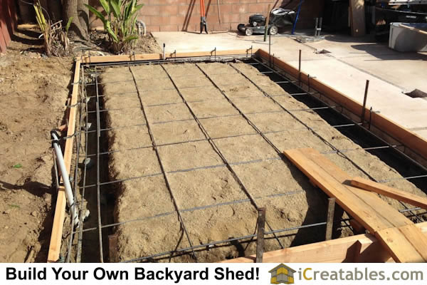 Garden shed photos pictures of garden sheds for Monolithic pour foundation