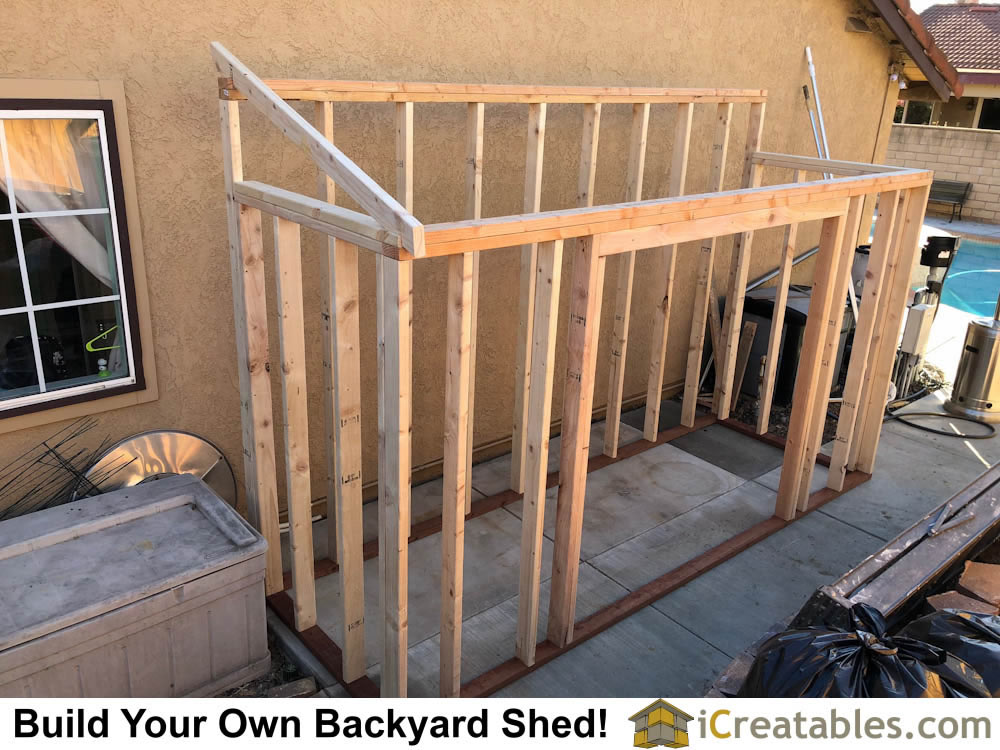 Pictures of lean to sheds photos of lean to shed plans for House framing plans