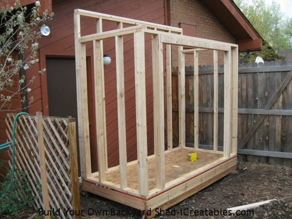 Lean to shed plans easy to build diy shed designs for Side of the house storage shed