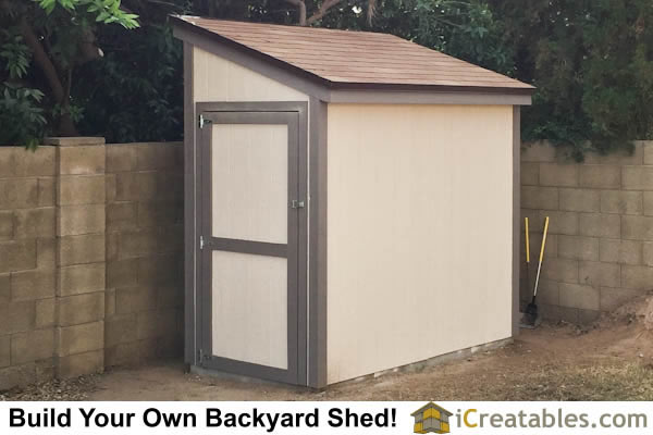 how to build a wooden lean to shed