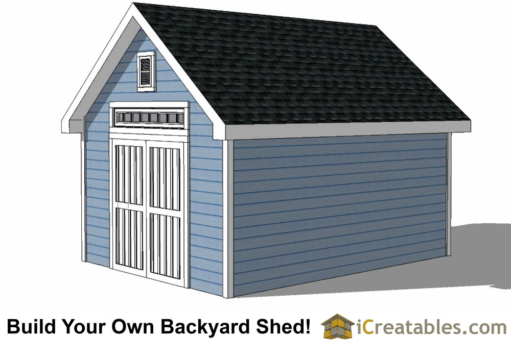 10x16 Shed Plans With Dormer | iCreatables.com