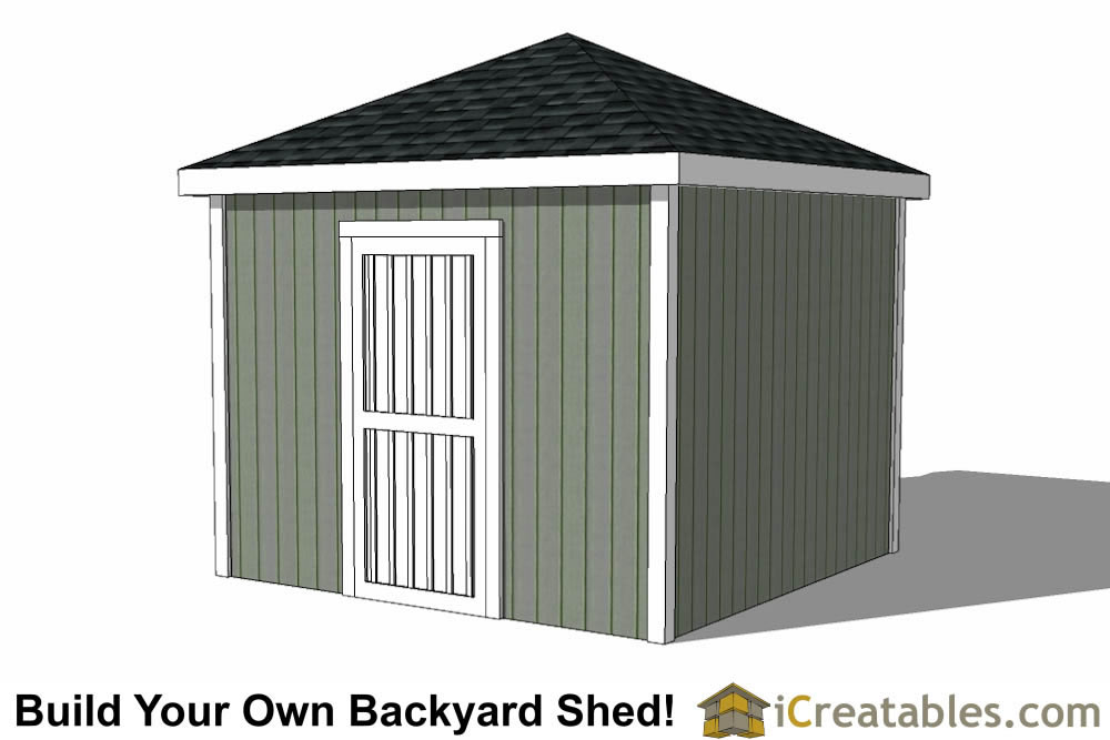 10x10 Hip Roof Shed Plans
