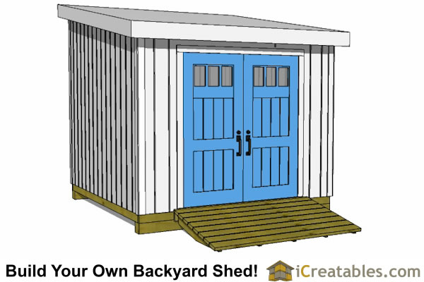 10x10 Shed Plans - Storage Sheds & Small Horse Barn Designs