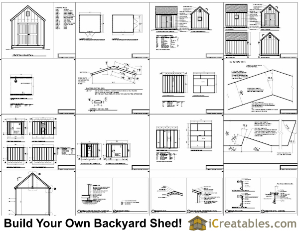 10x12 barn shed plans for Shed layout planner