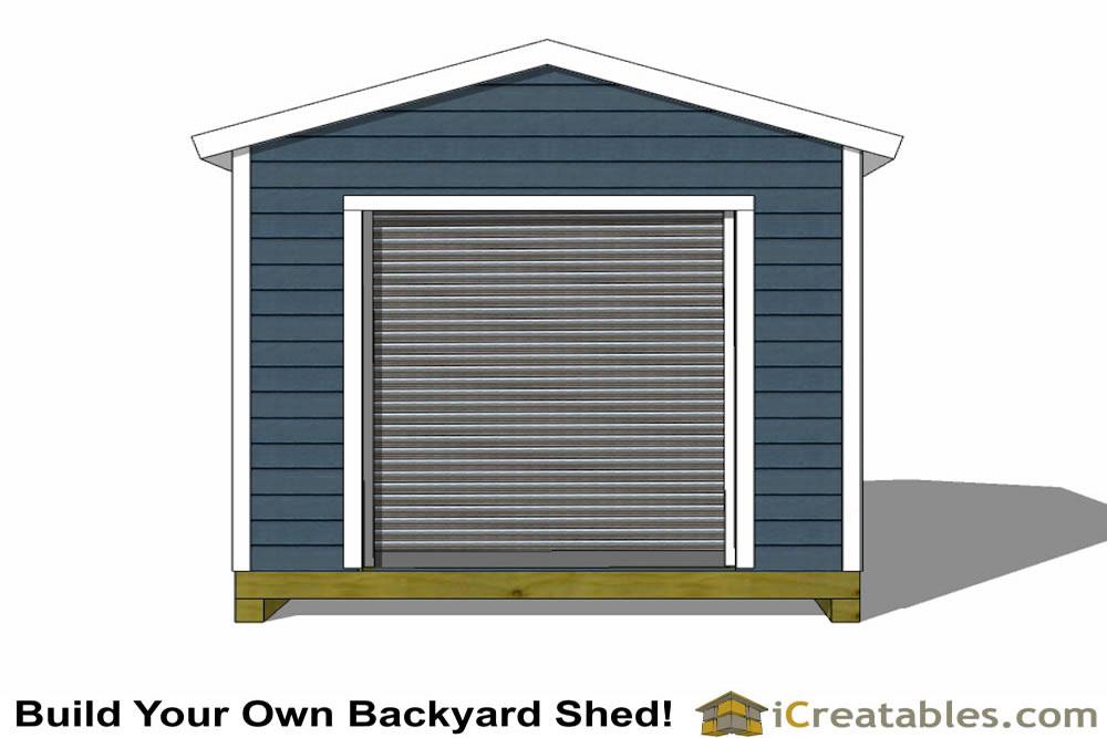 10x12 Shed Plans With Garage Door Icreatables