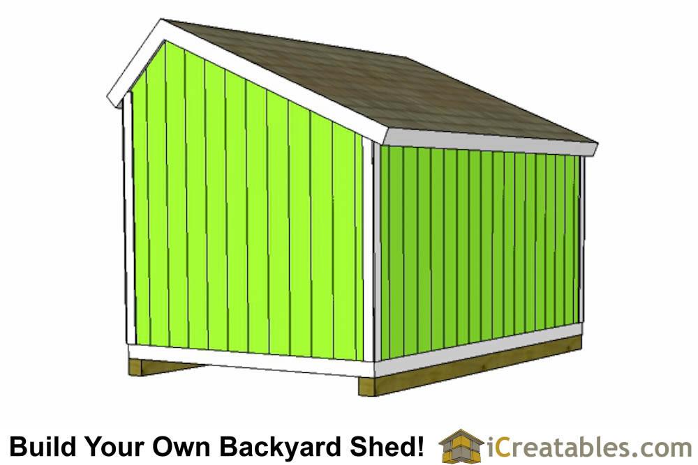 10x12 salt box shed plans saltbox storage shed for Saltbox storage shed