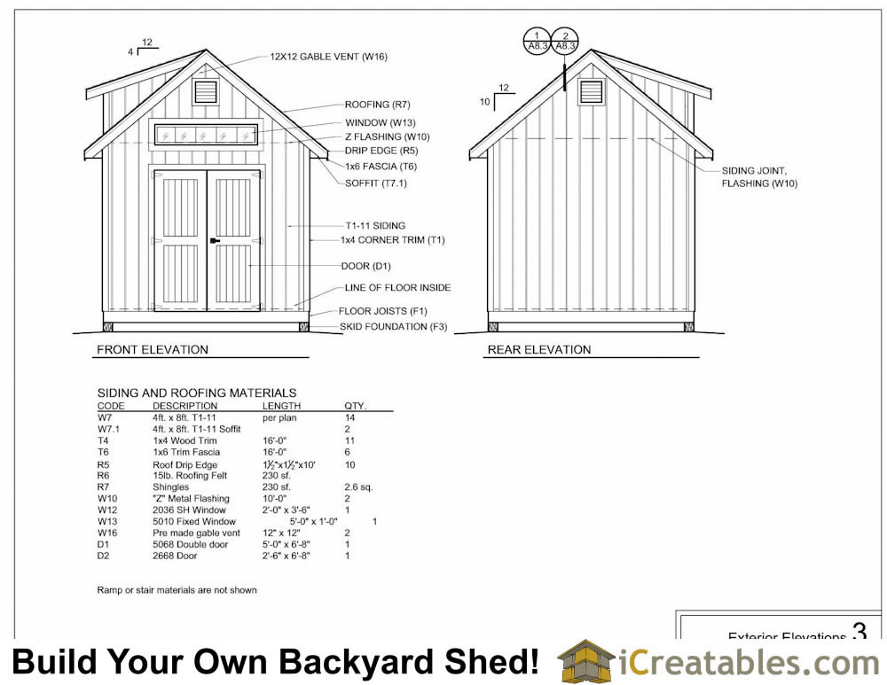 10x12 shed plans with dormer for Shed floor plans