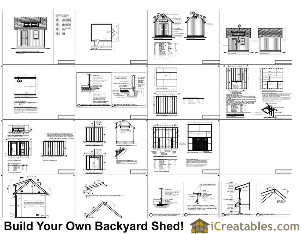 10x12 shed plans with dormer for Shed plans and material list