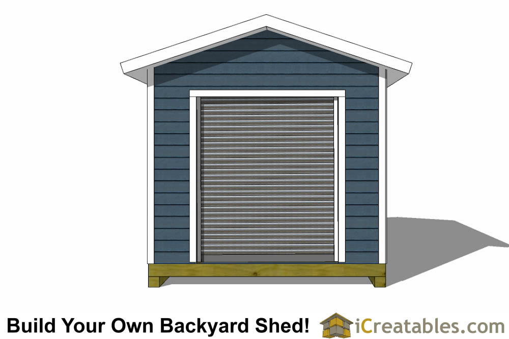 10x14 shed plans with garage door icreatables for 10x14 garage door