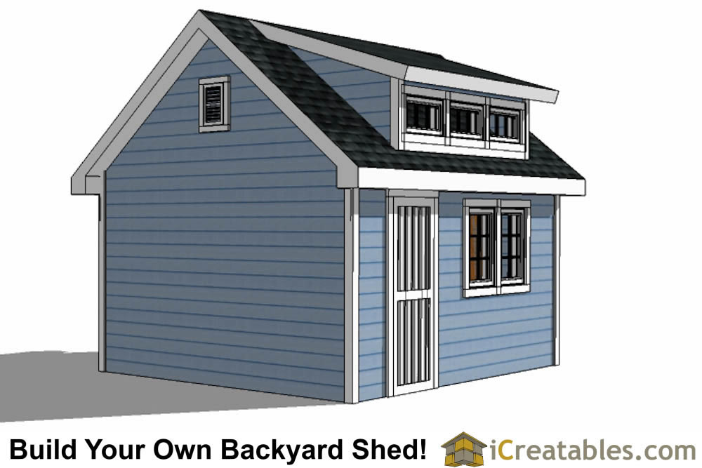 10x14 Shed Plans With Dormer Icreatables Com