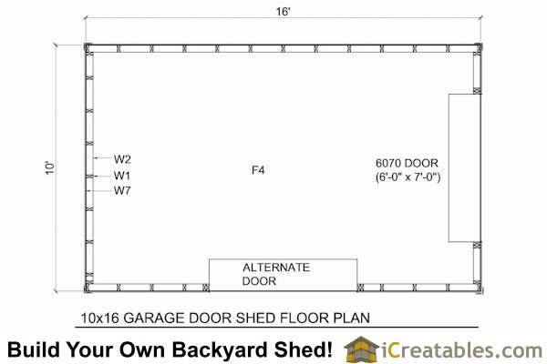 10x16 Shed Plans With Garage Door Icreatables