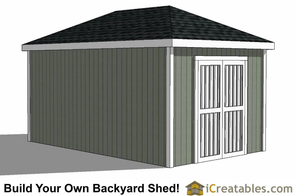 10x16 hip roof shed plans for Double hip roof design