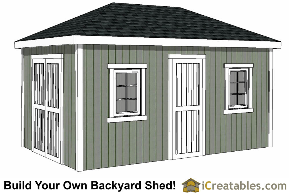 10x16 hip roof shed plans Design shed