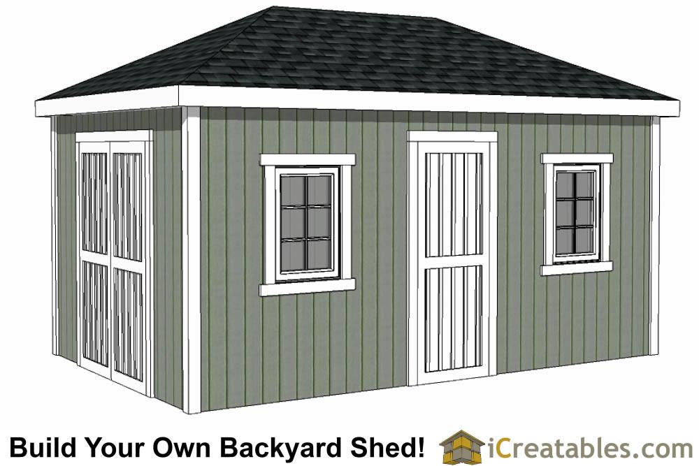 10x16 hip roof shed plans for Shed roof design plans