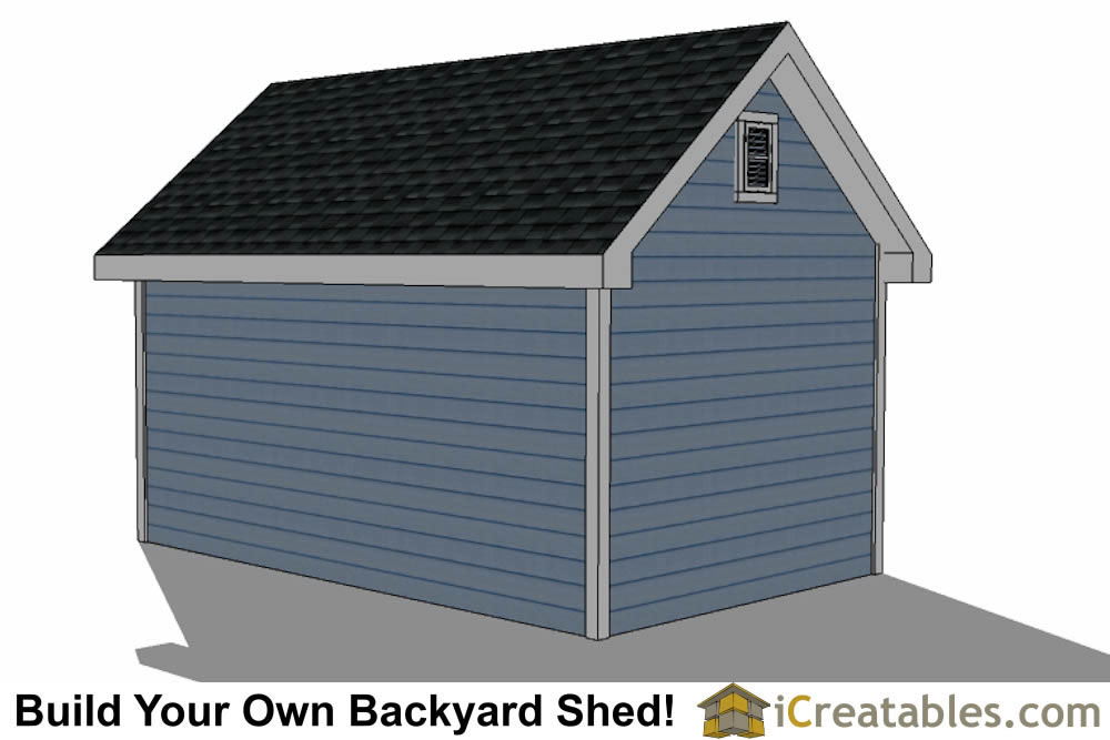 10x16 Traditional Victorian Garden Shed Plans