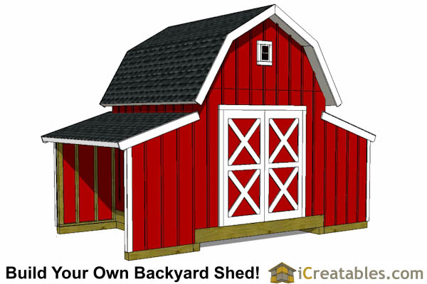 10x18 Gambrel Small Barn Shed Plans Barn Shed Plans