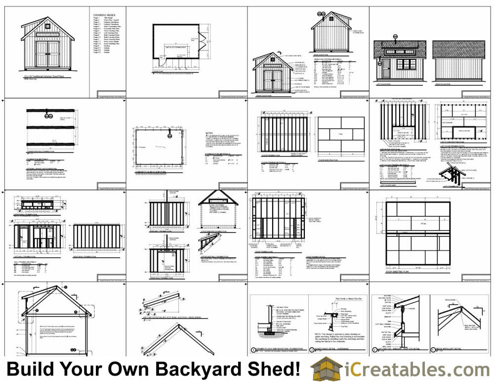 12x16 shed plans with dormer for Barn style storage building plans