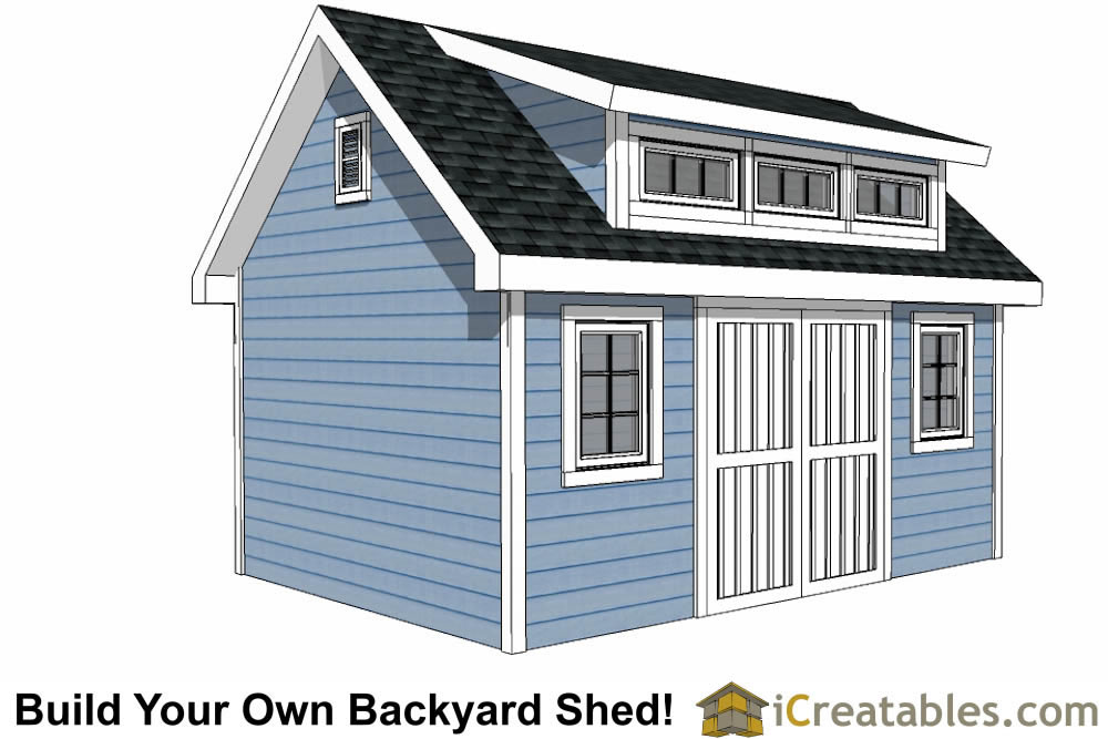 12x16 shed plans with icreatables 89812