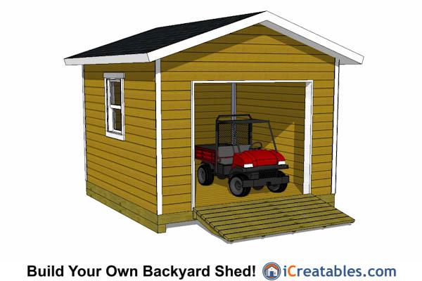 12x12 Overhead Garage Door House Plans