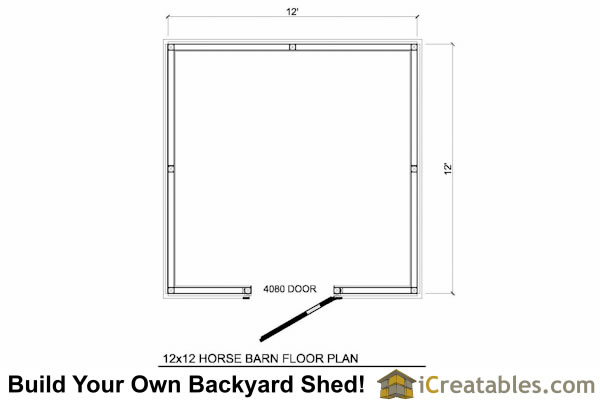 12x12 horse barn plans one stall horse barn plans for 12x12 deck plans