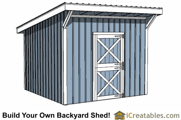 12x12 shed plans build your own storage lean to or for How to build a sloped roof shed