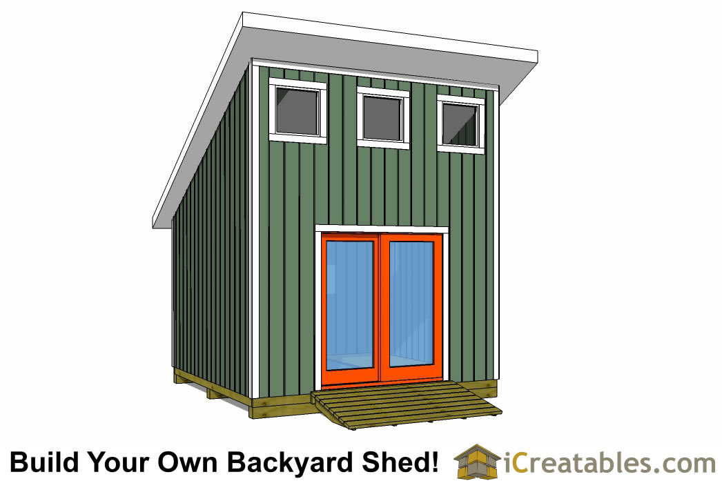 12x12 Shed Plans Build Your Own Storage Lean To Or