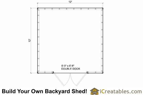 Shed Blueprints 12x12