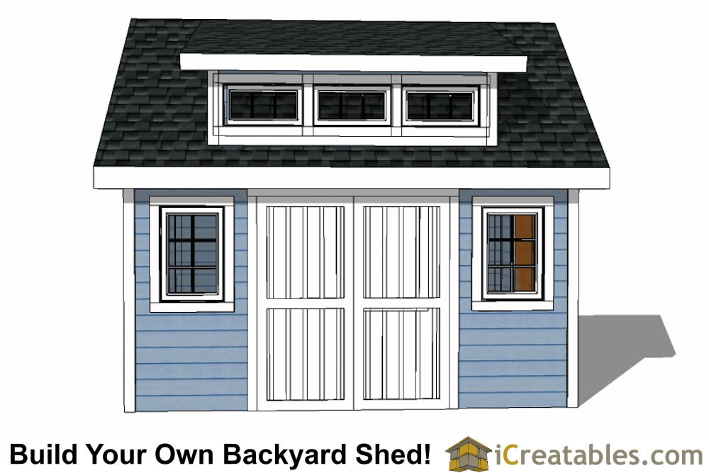 12x14 Shed Plans With Dormer Icreatables Com