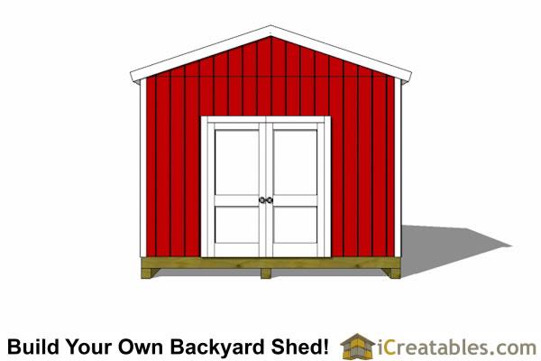12x14 Shed Plans Gable Shed Storage Shed Plasn